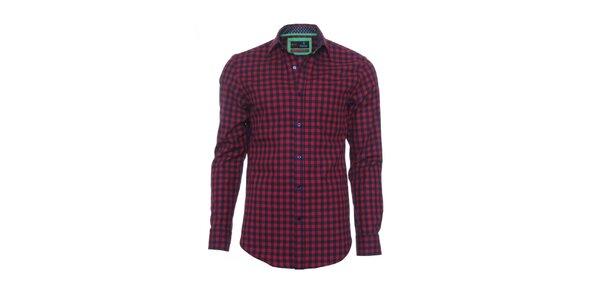 Pánska červeno-čierna kockovaná košeľa z limitovanej kolekcie Pontto