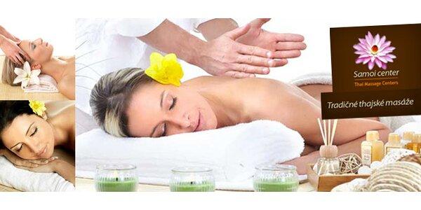 Thajská masáž v Samoi Center