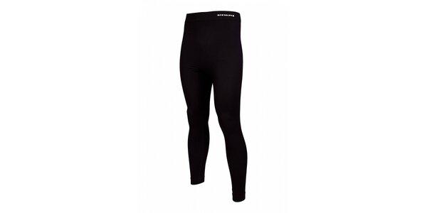 Pánske čierne bezošvé podvliekacie nohavice Envy
