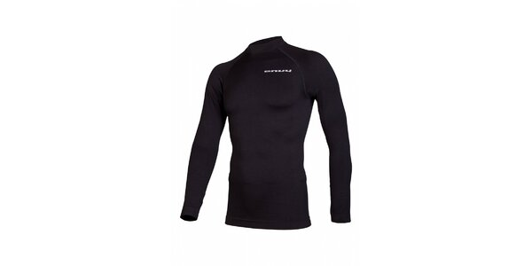 Pánske čierne bezošvé termo tričko Envy