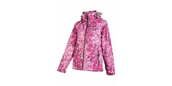 Dámska ružová snowboardová bunda Envy s potlačou