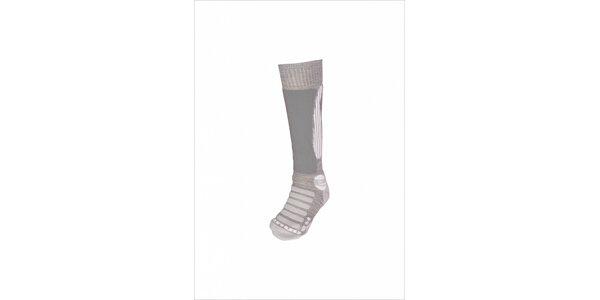 Dámske svetlo šedé lyžiarske ponožky Envy s merino vlnou