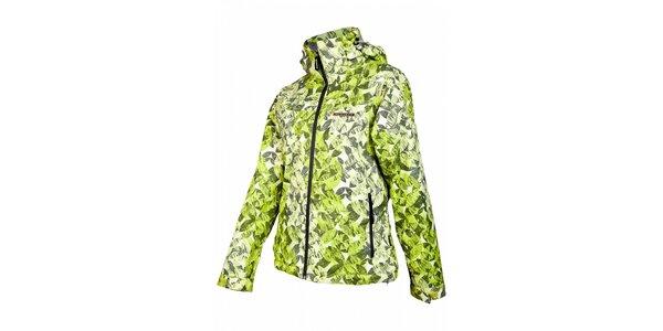 Dámska svetlo zelená snowboardová bunda Envy s potlačou