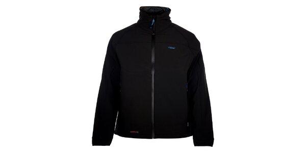 Pánska čierna zimná softshellová bunda 3v1
