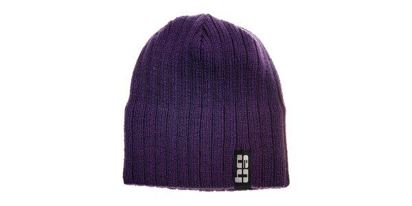 Fialová pletená čapica Envy
