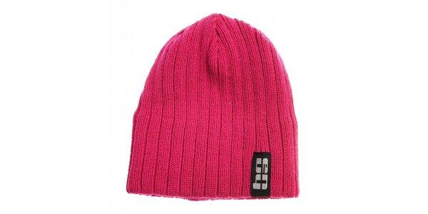 Detská ružová pletená čapica Envy