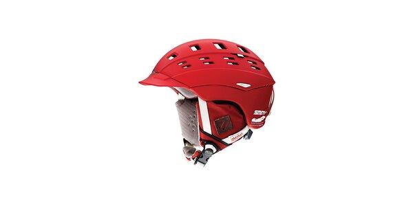 Červená lyžiarska helma Smith