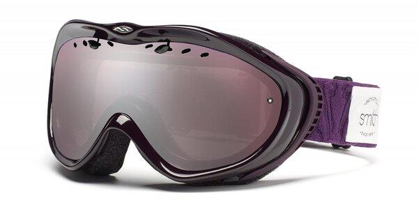 Dievčenské tmavo fialové lyžiarske okuliare Smith Optics