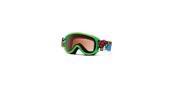 Detské svetlo zelené lyžiarske okuliare Smith Optics