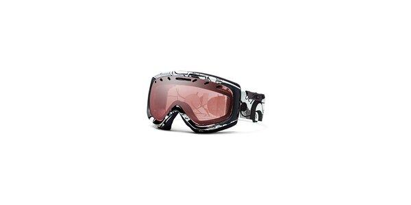 Čierno-biele lyžiarske okuliare Smith Optics