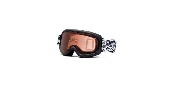 Čierne snowboardové okuliare Smith Optics