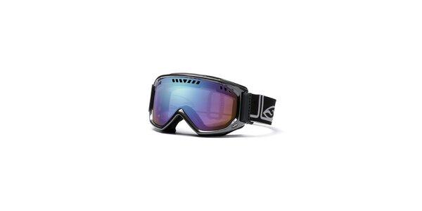 Čierne lyžiarske okuliare Smith Optics s duhovými sklami