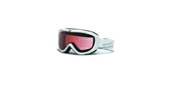 Menšie biele lyžiarske okuliare Smith Optics