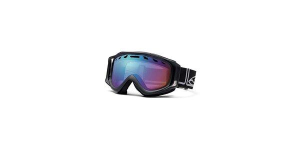 Čierne lyžiarske okuliare Smith Optics so sférickými sklami
