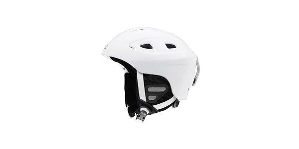 Biela lyžiarska helma Smith