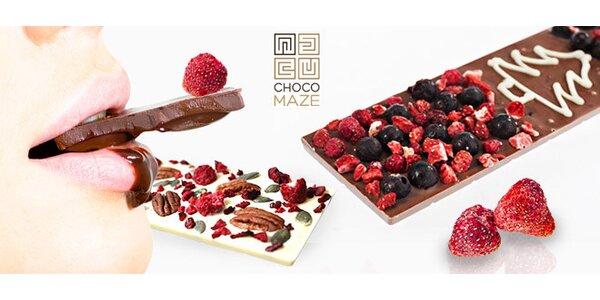 Ručne vyrábané čokolády Chocomaze
