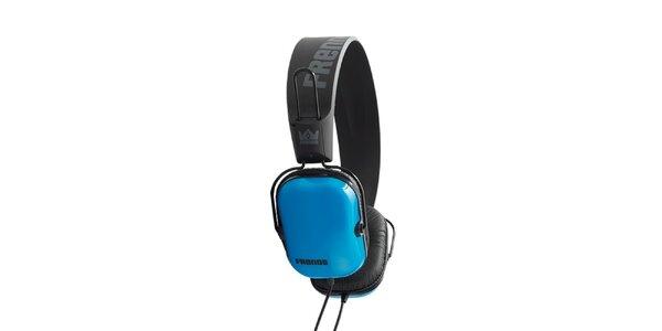 Designové modro-čierne slúchadlá Frends