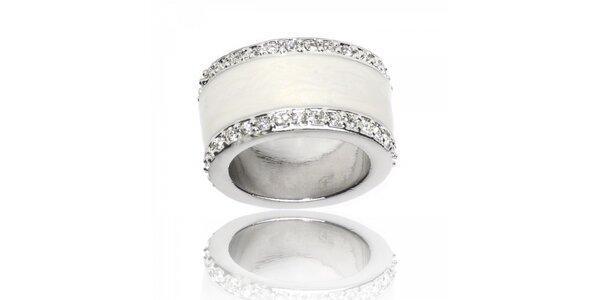 Dámsky strieborný prsteň Bague a Dames so zirkónmi