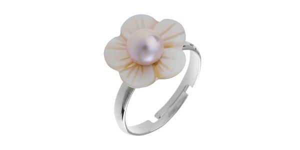 Dámsky perleťový prstienok s ružovou perlou Orchira