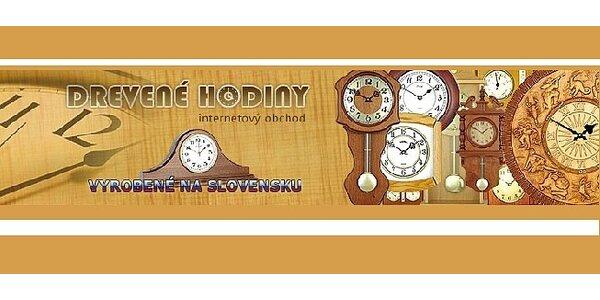 Zľava na luxusné drevené hodiny