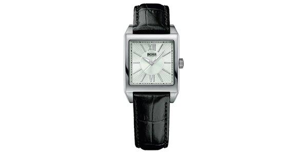 Dámske hranaté strieborné hodinky Hugo Boss Orange