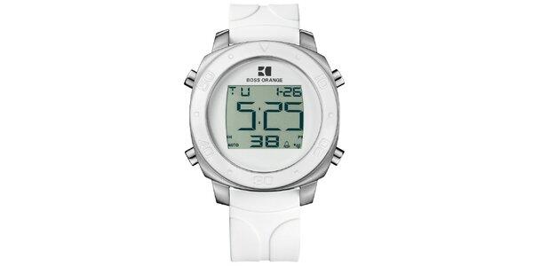 Biele digitálne hodinky Hugo Boss Orange