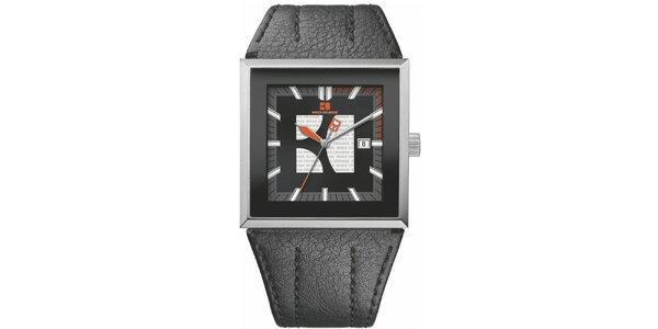 Pánske čierne analógové hodinky Hugo Boss Orange