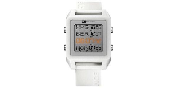 Pánske biele digitálne hodinky Hugo Boss Orange
