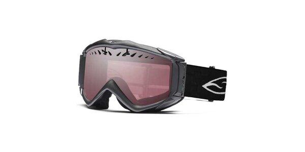 Lyžiarske okuliare Smith Optics s rúžovo zafarbenými sklami