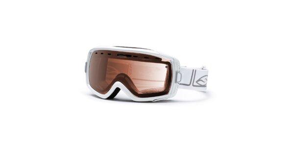 Dámske lyžiarske okuliare Smith Optics v bielej farbe