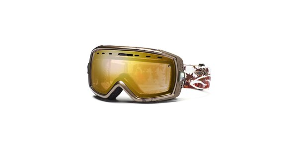 Farebné lyžiarske okuliare Smith Optics so zlato zafarbenými sklíčkami