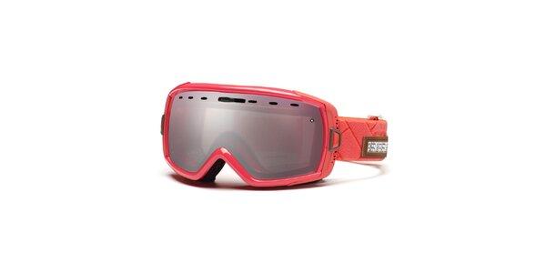 Korálové lyžiarske okuliare Smith Optics so zrkadlovým efektom