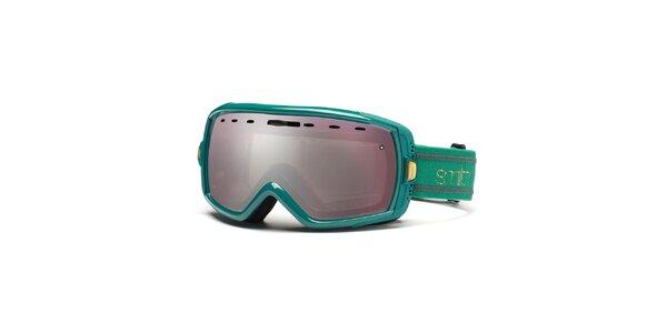 Zelené lyžiarske okuliare Smith Optics so zrkadlovým efektom