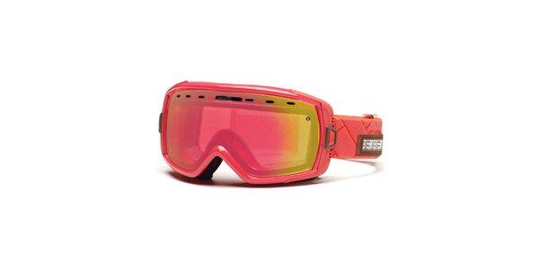 Korálové lyžiarske okuliare Smith Optics s duhovými sklíčkami so zrkadlovým…