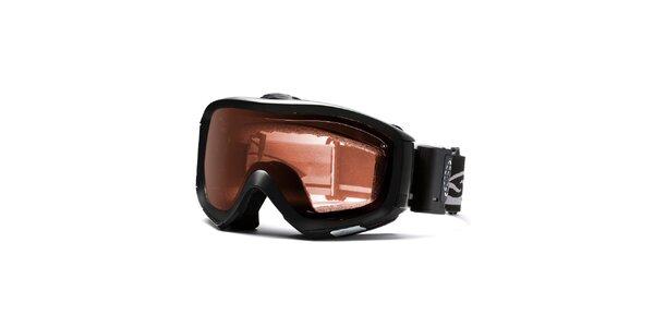 Čierne robustné lyžiarske okuliare Smith Optics