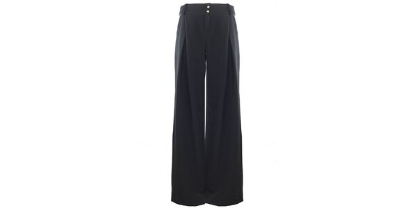 Dámske široké čierne nohavice Hype
