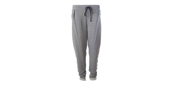 Dámske šedé nohavice so zipsovými vreckami Hype