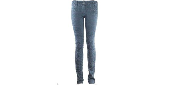 Dámske modré vzorované nohavice Hype