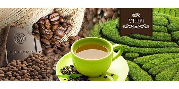 Ponuka kvalitnej plantážnej kávy, čokolády alebo sypaného čaju