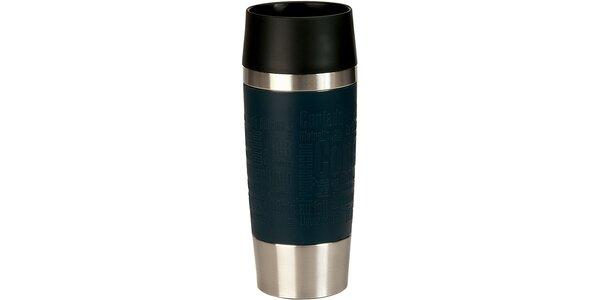 Cestovný hrnček antislip - modrý 0,36 L