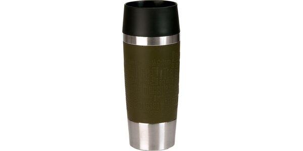 Cestovný hrnček antislip - zelený 0,36 L