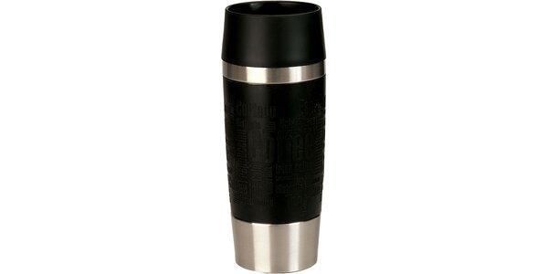 Cestovný hrnček antislip - čierny 0,36 L
