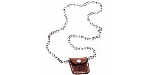 Oceľový náhrdelník s vreckom Dolce&Gabbana