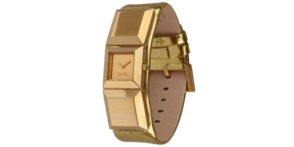 Dámske zlaté náramkové hodinky Dolce&Gabbana