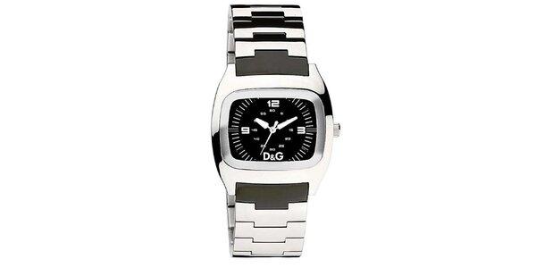 Dámske oceľové hodinky s čiernym ciferníkom Dolce & Gabbana