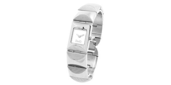 Dámske oceľové hodinky s reliéfnym remienkom Dolce&Gabbana