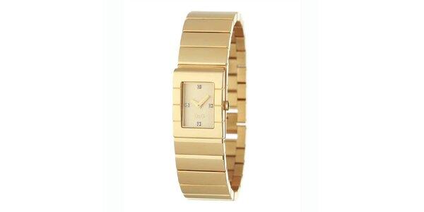 Dámske oceľové náramkové hodinky Dolce & Gabbana zlaté