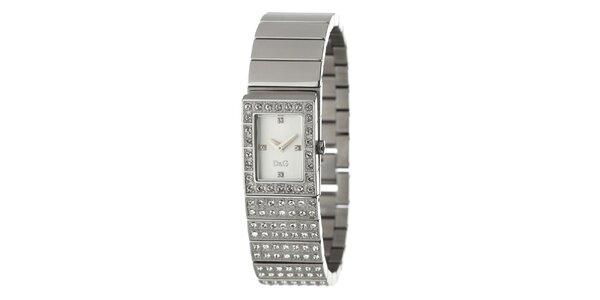 Dámske oceľové hodinky s kryštálmi Dolce&Gabbana