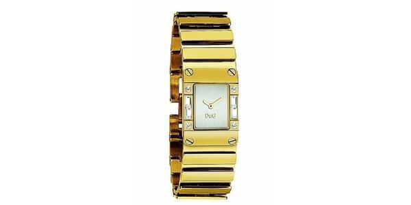 Dámske oceľové náramkové hodinky vo farbe zlata Dolce & Gabbana