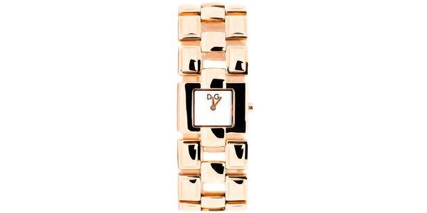 Dámske zlatoružové hodinky Dolce&Gabbana